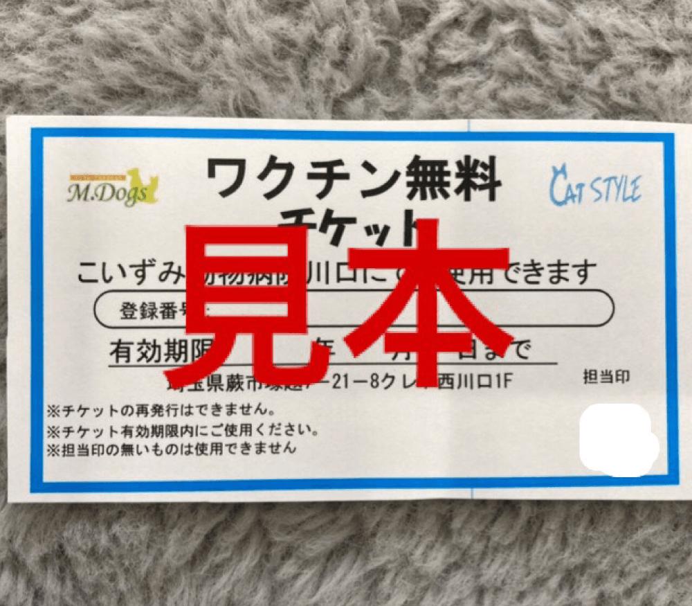 ワクチン3回無料サービス